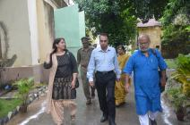 Flight to Harmony Foundation, Founder Mr. Chitta Dey, Director General & Inspector General of Correctional Services, West Bengal, Mr. A. K. Gupta and Rupsi Burman on their way to the venue