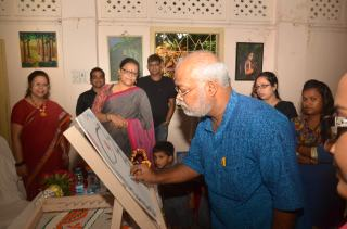 Flight to harmony Foundation, Mr. Chitta Dey adds color to the canvas
