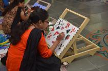 Artist-prisoner at work