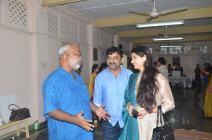 Internationally acclaimed singer Kaushiki Chakraborty arrives at the project site