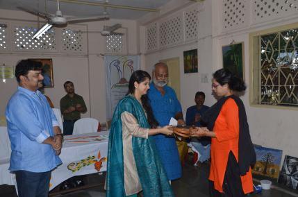 Being awarded by Kaushiki Chakraborty, internationally acclaimed classical singer