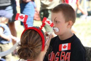 Canada Day Face Painting