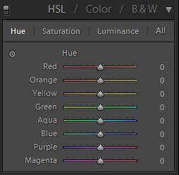 Lightroom Develop HSL Panel