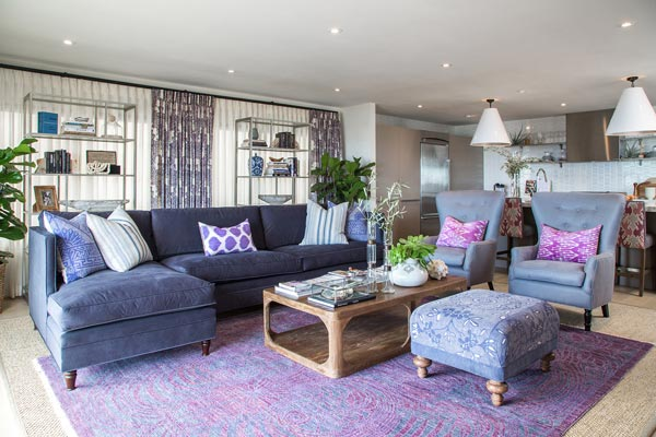 75 Lively Purple Living Room Photos 2019
