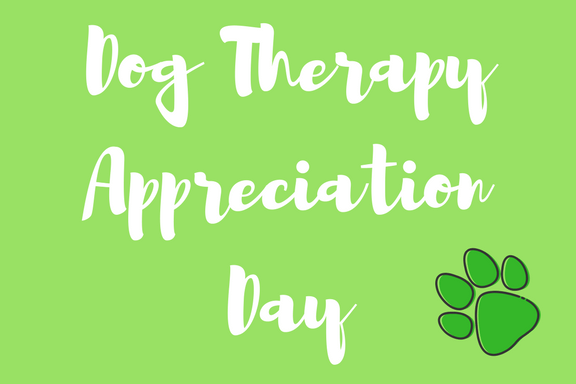 It's Dog Therapy Appreciation Day!