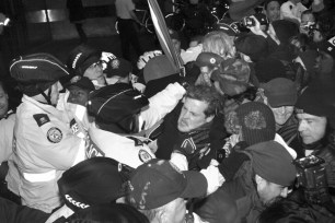 Police clash with protesters