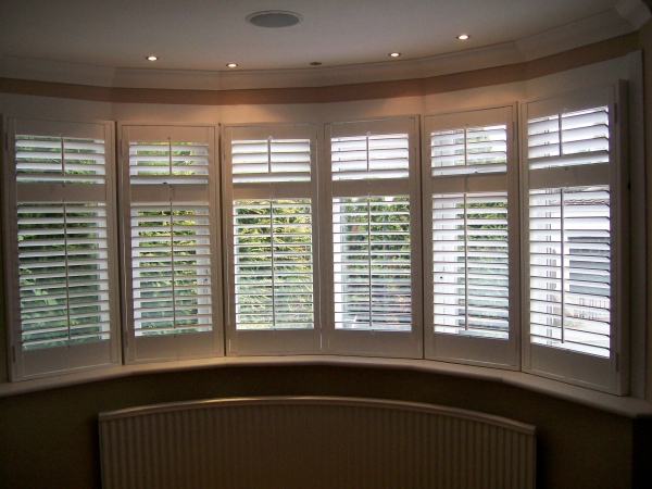 Plantation Shutters For Curved Windows