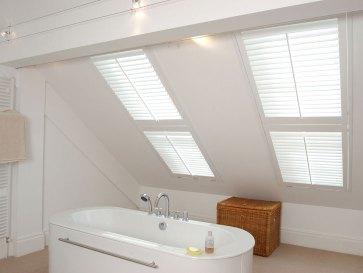 white velux tier-on-tier shutters
