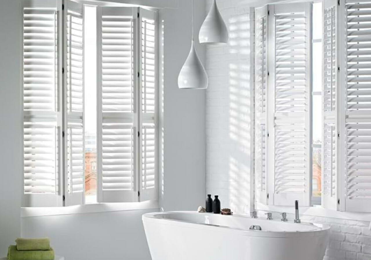 bathroom shutter blinds