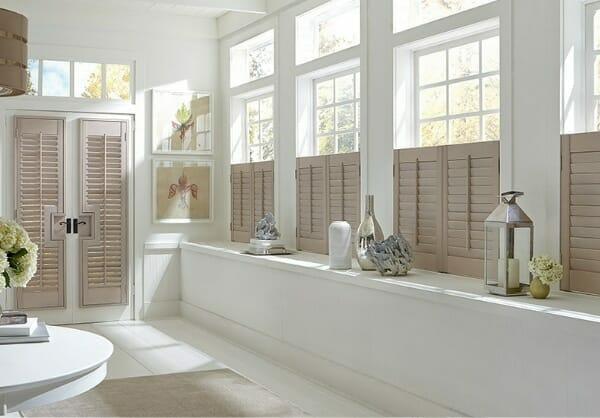 bathroom window shutters