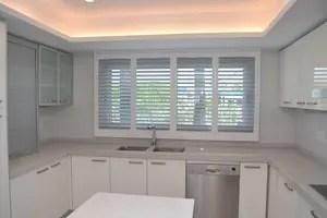kitchen shutters modern island in spain shuttersinspain com