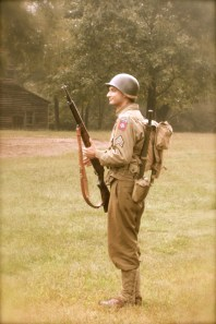 Sgt. Wiggins of Company F, 325th G.I.R., 82nd Airborne Division.