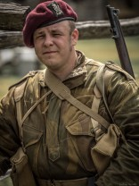 Royal Ulster Rifles paratrooper of the British Army.