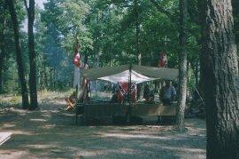 Civil War camp.