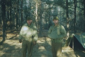 Two infantrymen with the Big Red One (U.S. 1st Infantry Division).