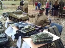 Reenactor representing the black soldiers of the armored divisions (tank crews) of the US Army during World War II.