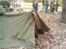 """My wool overcoat, reppin' the """"Old Hickory"""" 30th Infantry Division!"""