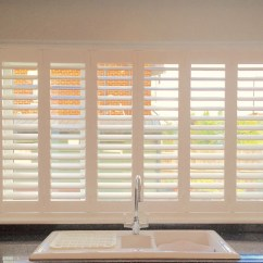 Kitchen Shutters Rustic Island Fitted In Regents Park Shuttersouth