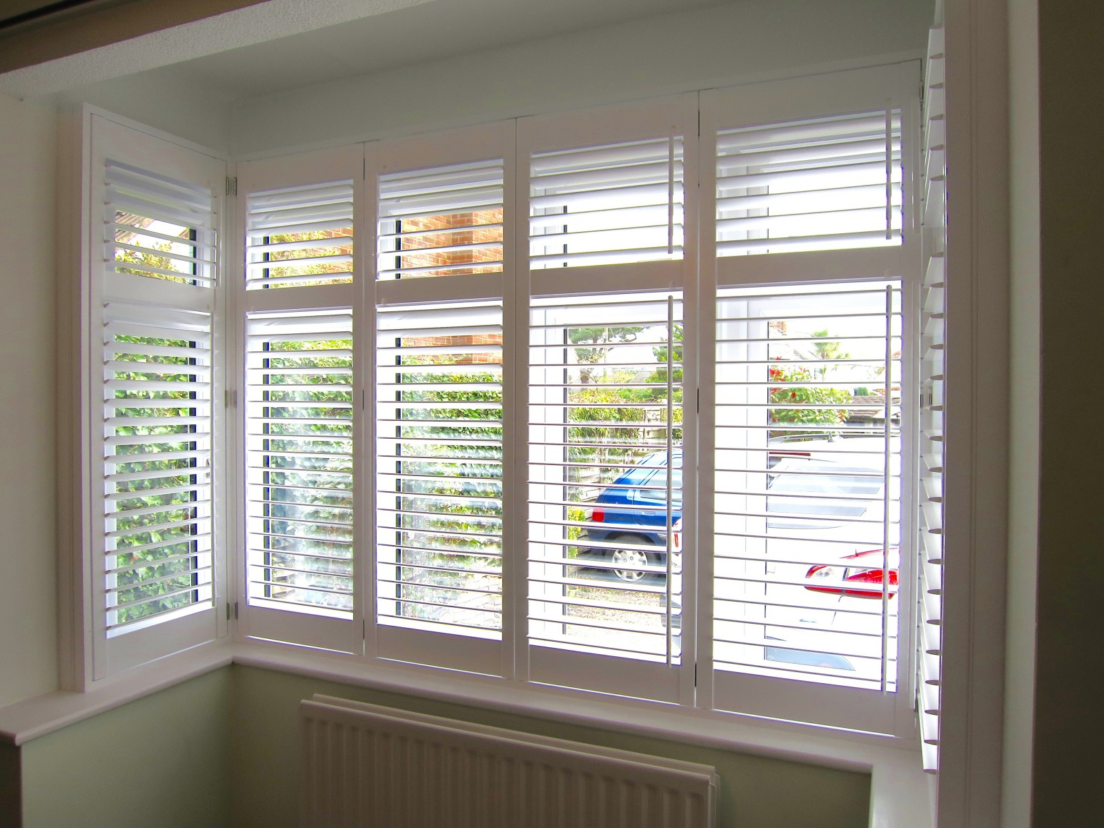 Bay Window Plantation Shutters Fitted In New Forest