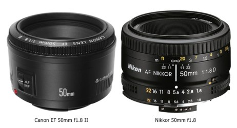 canon EF 50mm f1.8 and nikon AF 50mm f1.8