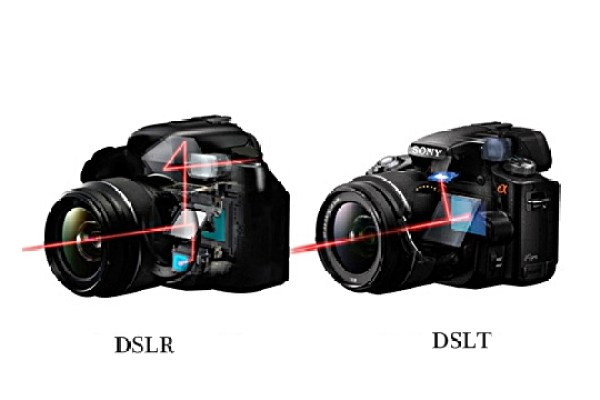 DSLR DSLT cameras working comparison