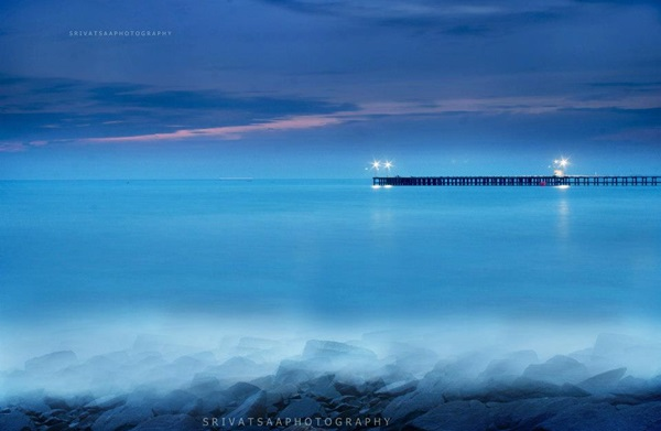 long exposure seascape photograph