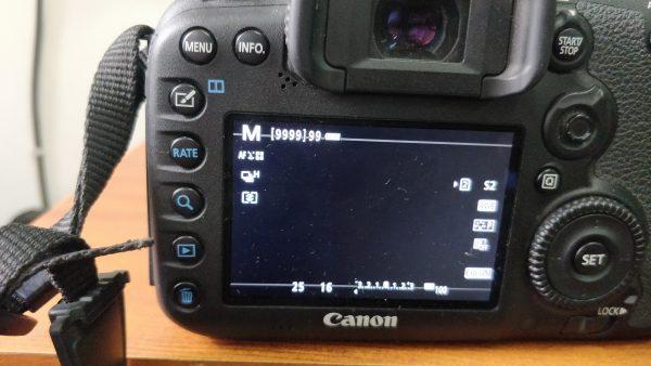 f16 aperture settings of dslr LCD