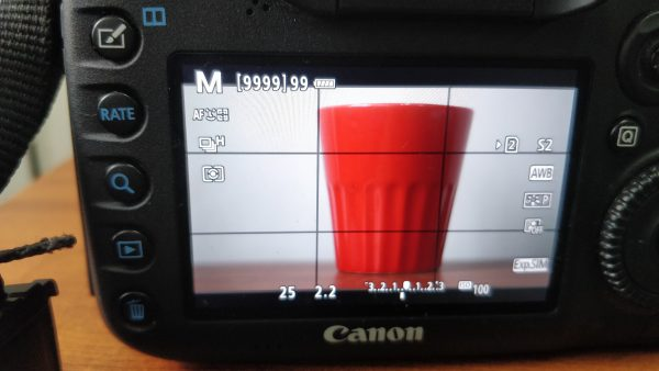 f2.2 aperture settings of dslr lcd