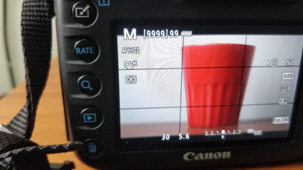 manual mode exposure change for exposure triangle