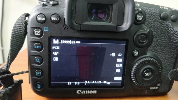 f9.0aperture settings of dslr lcd