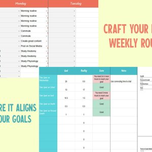 Craft Your Ideal Weekly Routine