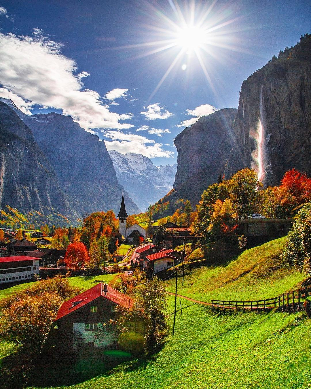 Village Of Lauterbrunnen In Switzerland Beautiful Places