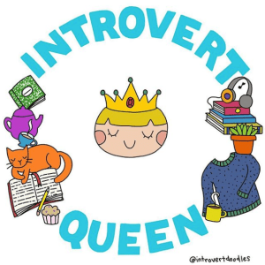 introvert queen, marzi introvert doodles