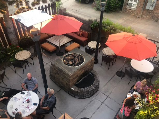 patios in downtown missoula - iron horse