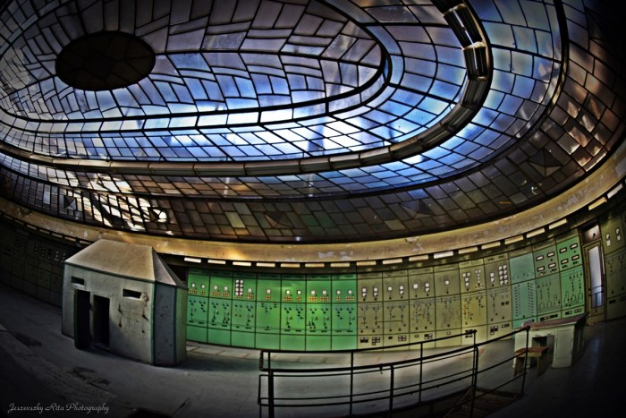 Glass dome of an abadnoned power plant (Hungary)