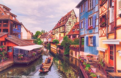 Colorful Colmar (alternative) - houses along the channel of La Petite Venise, Colmar, France.