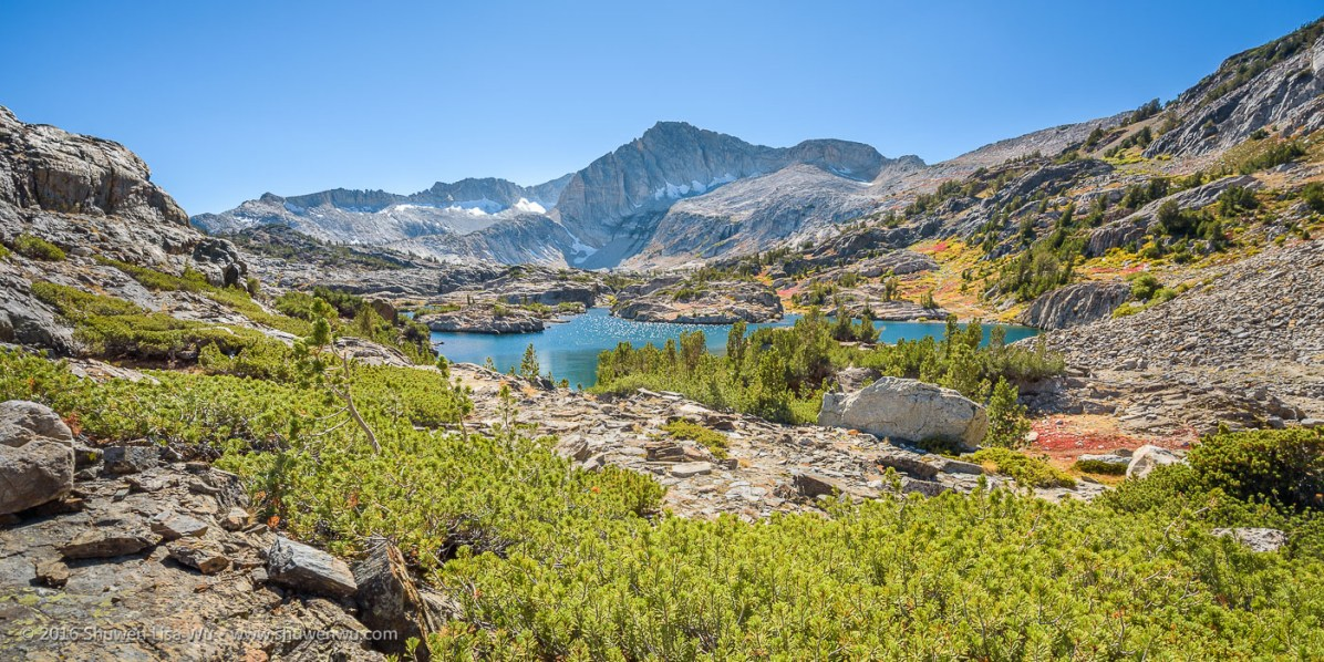 North Peak & Shamrock Lake, 20 Lakes Basin, Hoover Wilderness, California, September 2016.