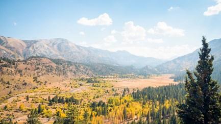 Leavitt Meadows & West Walker River from Sonora Pass Road, Bridgeport, California, September 2016.