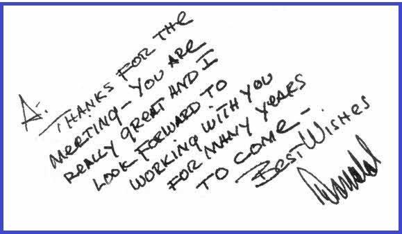 כתב ידו של דונלד טראמפ