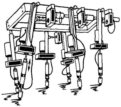 Draft of Walking machine of M. Petternella