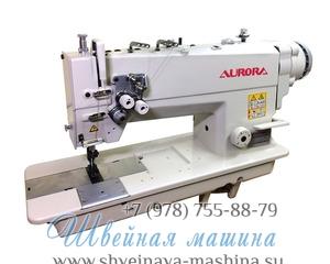 Двухигольная промышленная швейная машина AURORA A-845D-05 с прямым приводом 1