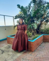 South African Shweshwe Dress for Traditional Ceremonies (10)
