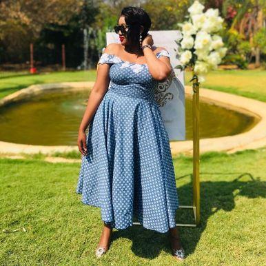 Latest Shweshwe Traditional Dresses For 2021 (12)