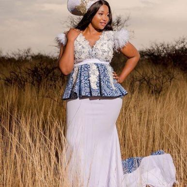 Latest Shweshwe Traditional Dresses For 2021 (2)