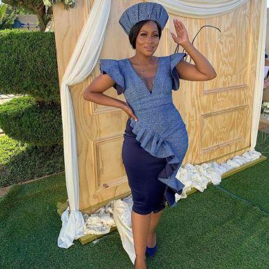 Latest Shweshwe Traditional Dresses For 2021 (4)