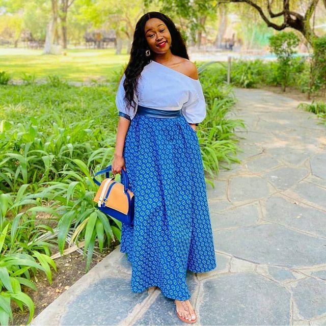 Latest Shweshwe Traditional Dresses For 2021 (8)
