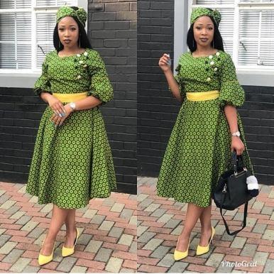 SHWESHWE SOUTH AFRICAN TRADITIONAL DRESSES 2021 (3)