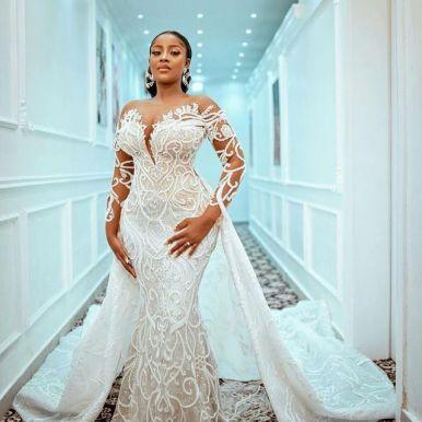 Trendy Ankara Lace Dresses Styles 2021 (14)