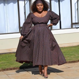 Unique Shweshwe Dresses 2021 For Wedding (12)