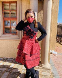 Trendy African Traditional Shweshwe Dress 2021 (3)